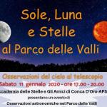 Sole, stelle e pianeti al Parco delle Valli