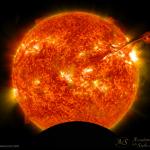 Un'eclissi di Sole piccola piccola
