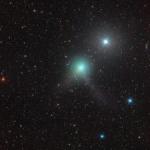 Una cometa (Iwamoto) nel cielo della sera