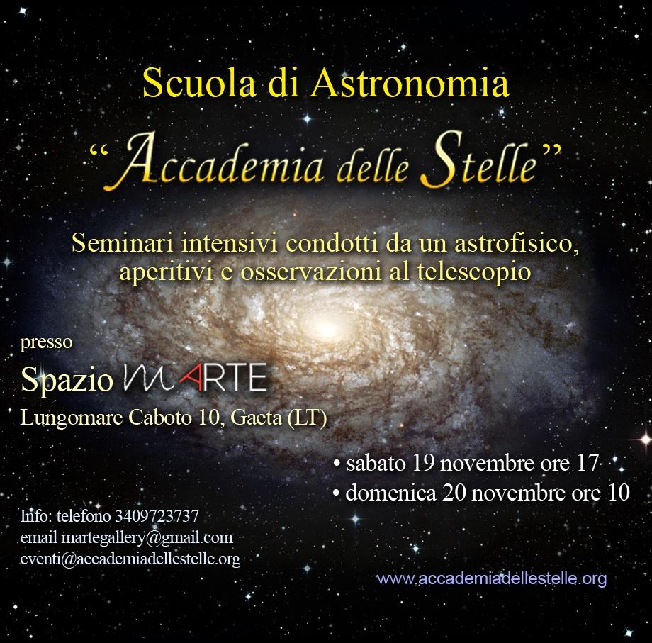 Seminario di astronomia a Gaeta - locandina