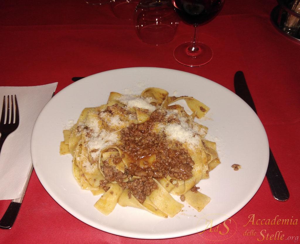 Il piatto di pappardelle al cinghiale della prima sera: un benvenuto assai gradito!!