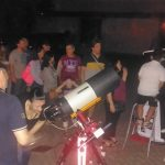 """Altri telescopi presenti: in primo piano un SC da 8"""" su montatura Avalon-instruments, dietro un Dobson da 36 cm e un Maksutov da 18. — con Emanuele Brizioli"""