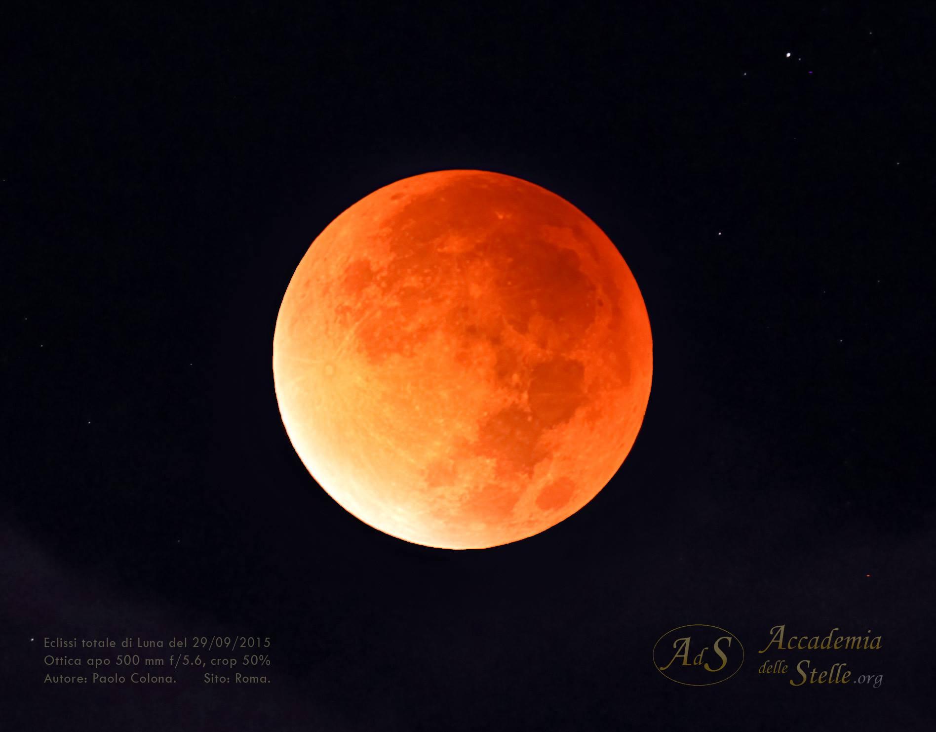 Luna Rossa Eclissi totale di Luna