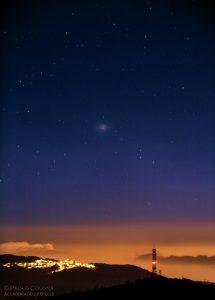 La celebre Omega Centauri, ripresa da Roma dall'autore del corso
