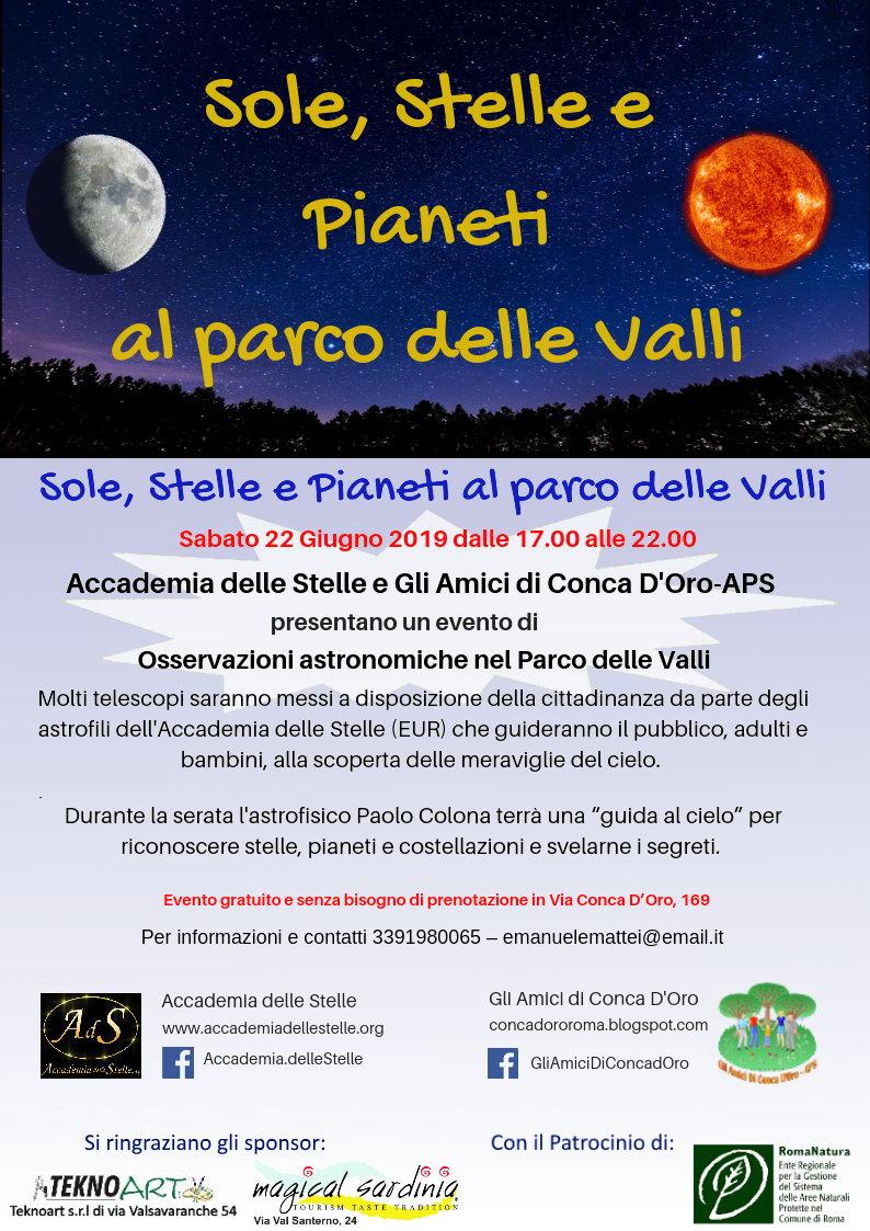 Parco delle Valli astronomia