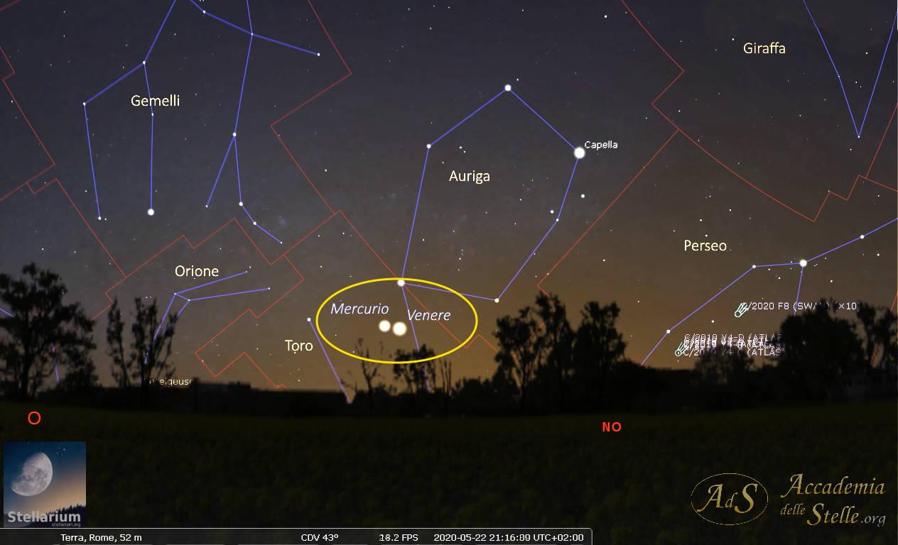 Congiunzione Mercurio-Venere