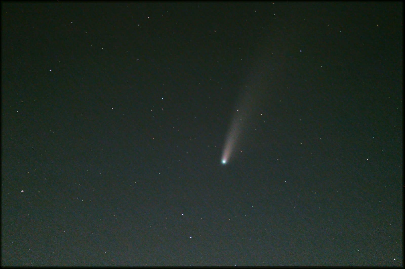 Foto della cometa ottenuta da Antonio Carotenuto la sera del 20 luglio