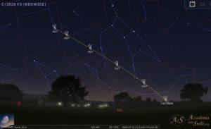 Cometa Neowise tramonto