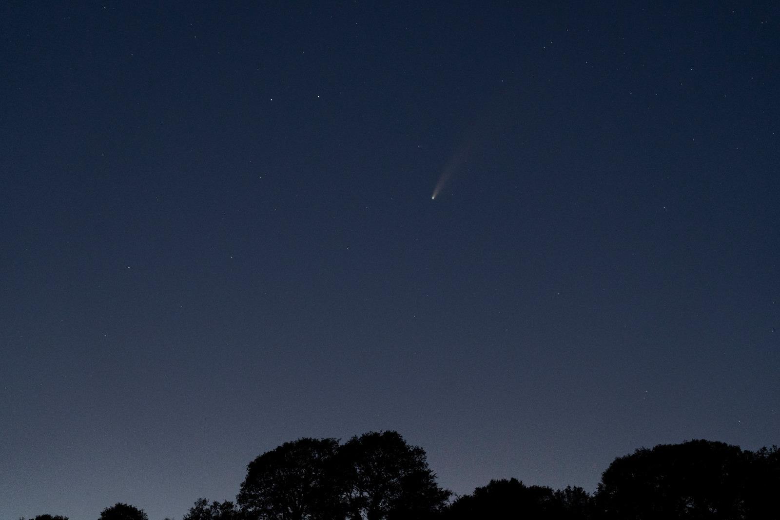 Michele Vallorosi, panorama con cometa del 18 luglio