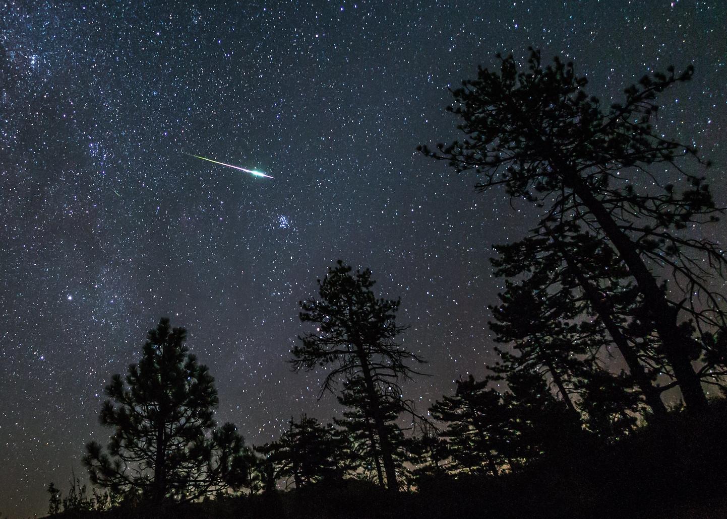 La magia di un bolide che sfreccia nella notte silenziosa. Ne potremo vedere molti grazie allo sciame delle Geminidi. (Ph. Slworking2)