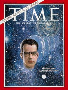L'astronomo Maarten Schmidt sulla copertina del Time dell'11 marzo del 1966