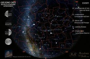 Il cielo del 15 giugno alle ore 23
